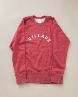 SWEATSHIRT VILLAGE ROUGE GROSEILLE